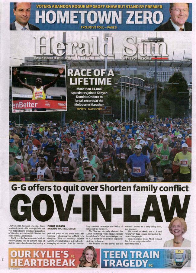 Herald Sun Front Page_Melbourne Marathon_2013.jpg