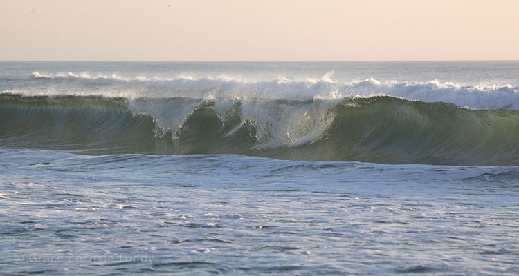 A beautiful wave on Block Island.