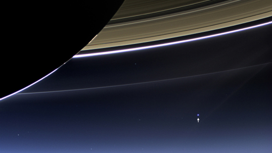 Here is a closeup, showing the the earth...