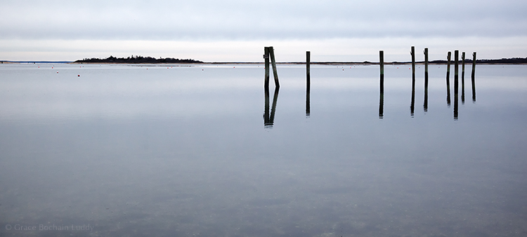 In winter, on Great Salt Pond, it's a little less busy than it's about to get immediately.