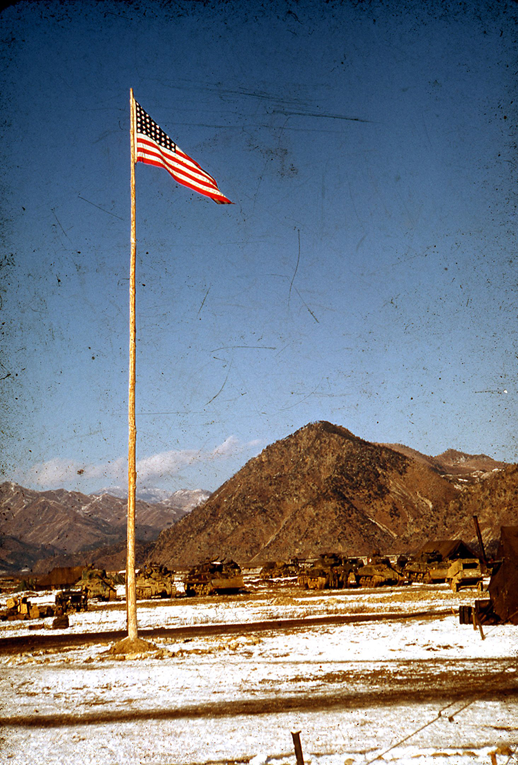My father went to Japan for R+R during the Korean War.  There, he bought his camera.  He took many pictures of the war, and I'm in the process of scanning them.  There are pictures of tanks and camps and night time strafing.  There are also pictures of things he loved.  Trees and mountains and birds in flight.