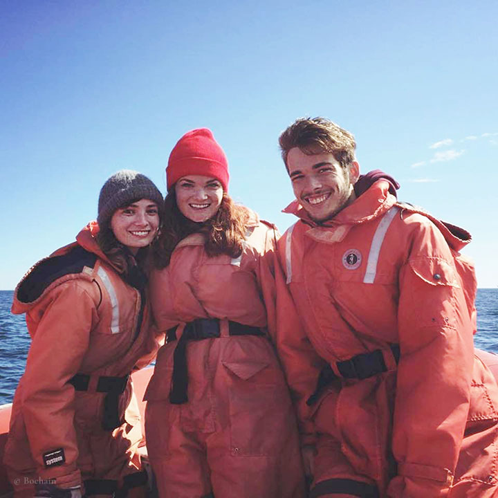 Here is Matthew and his sisters, Hannah and Amelia, up at a whale watch in Nova Scotia.