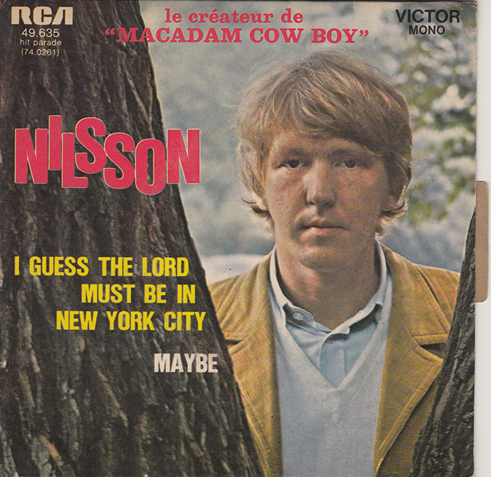 French pressing of I Guess The Lord Must Be In New York City / Maybe