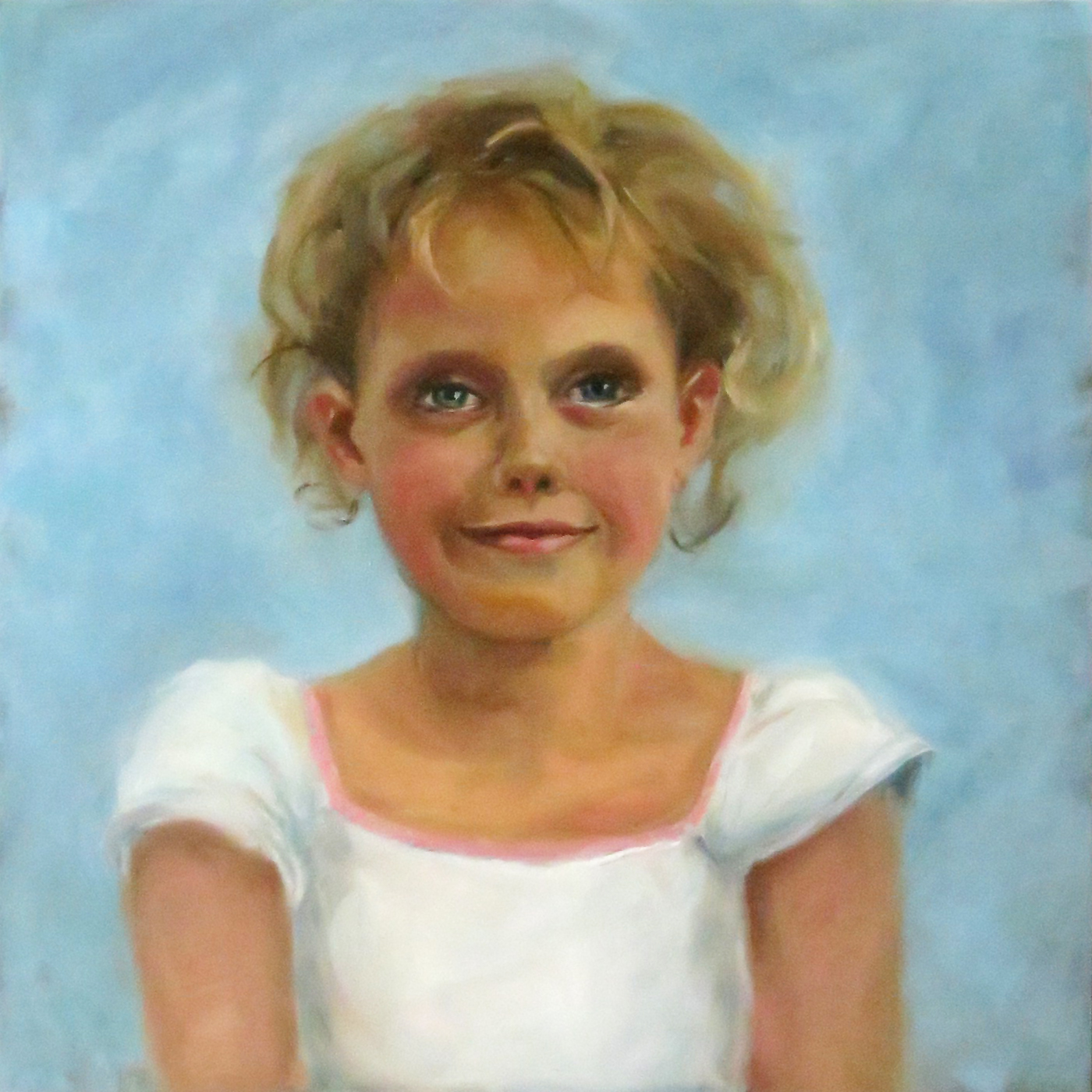 """Emilka"" - oil on board, 12"" x 12"" / 30cm x 30cm"