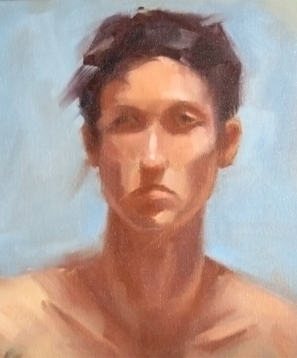 """Dessa - Study Nr2"" - oil on board, 14"" x 12"" / 35cm x 30cm"