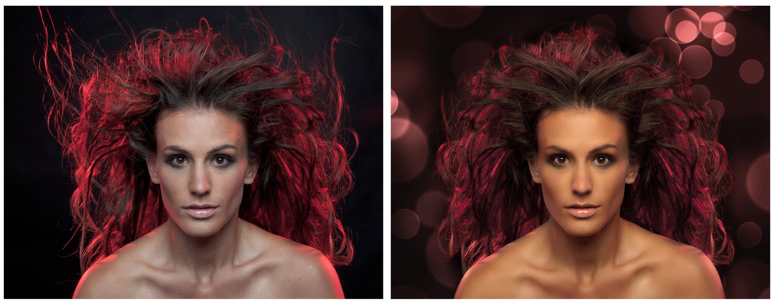 Background manipulation, hair and skin retouching