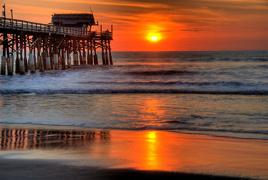 Cocoa Beach Pier, FL - Sunset
