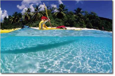 Kayaking at the National Park in St John, Virgin Islands