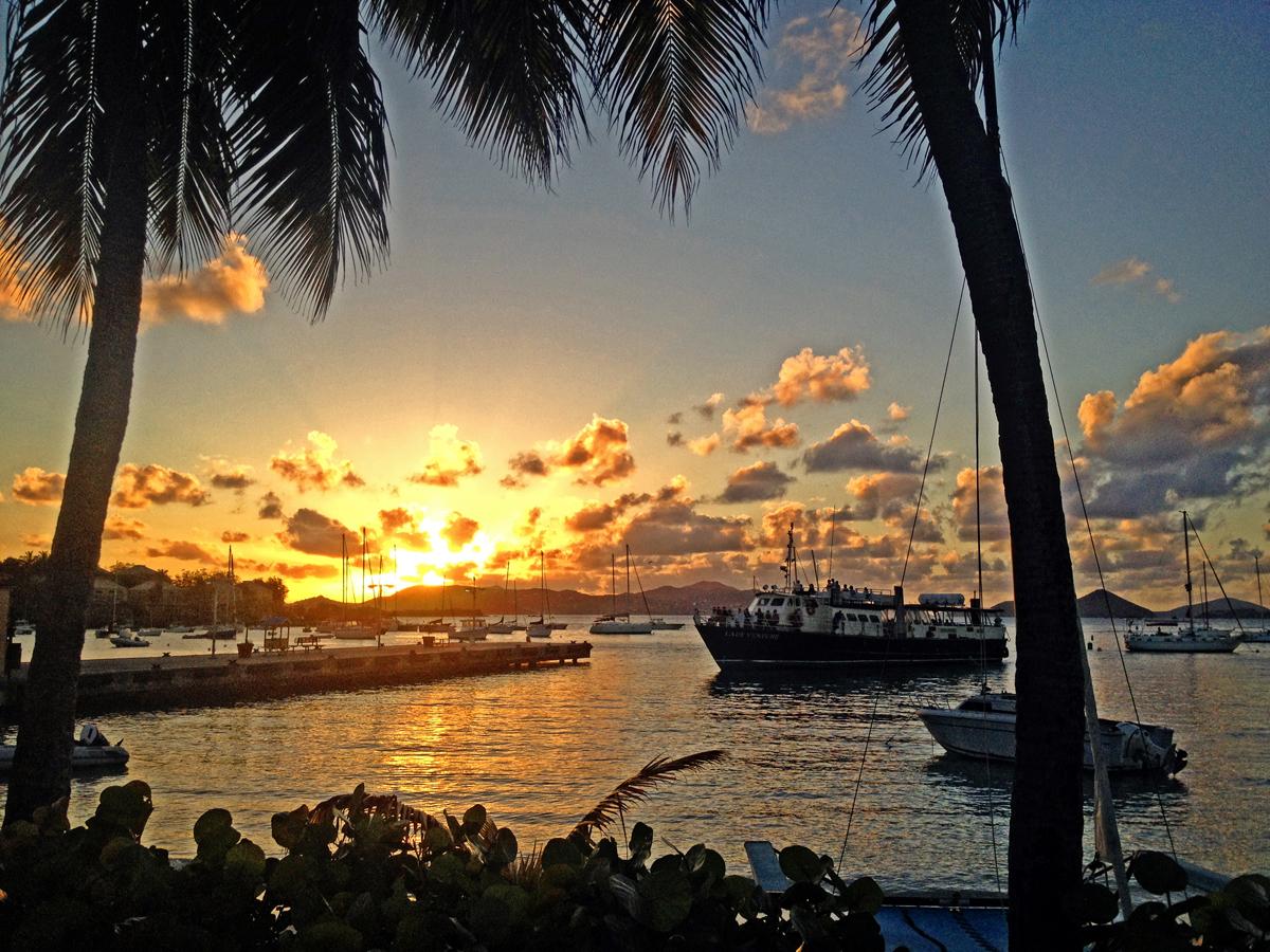 Sunset at St John, Virgin Islands