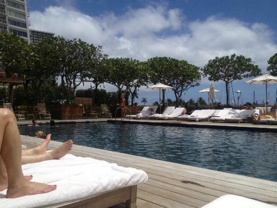 Modern Hotel pool in Honolulu, Hawaii