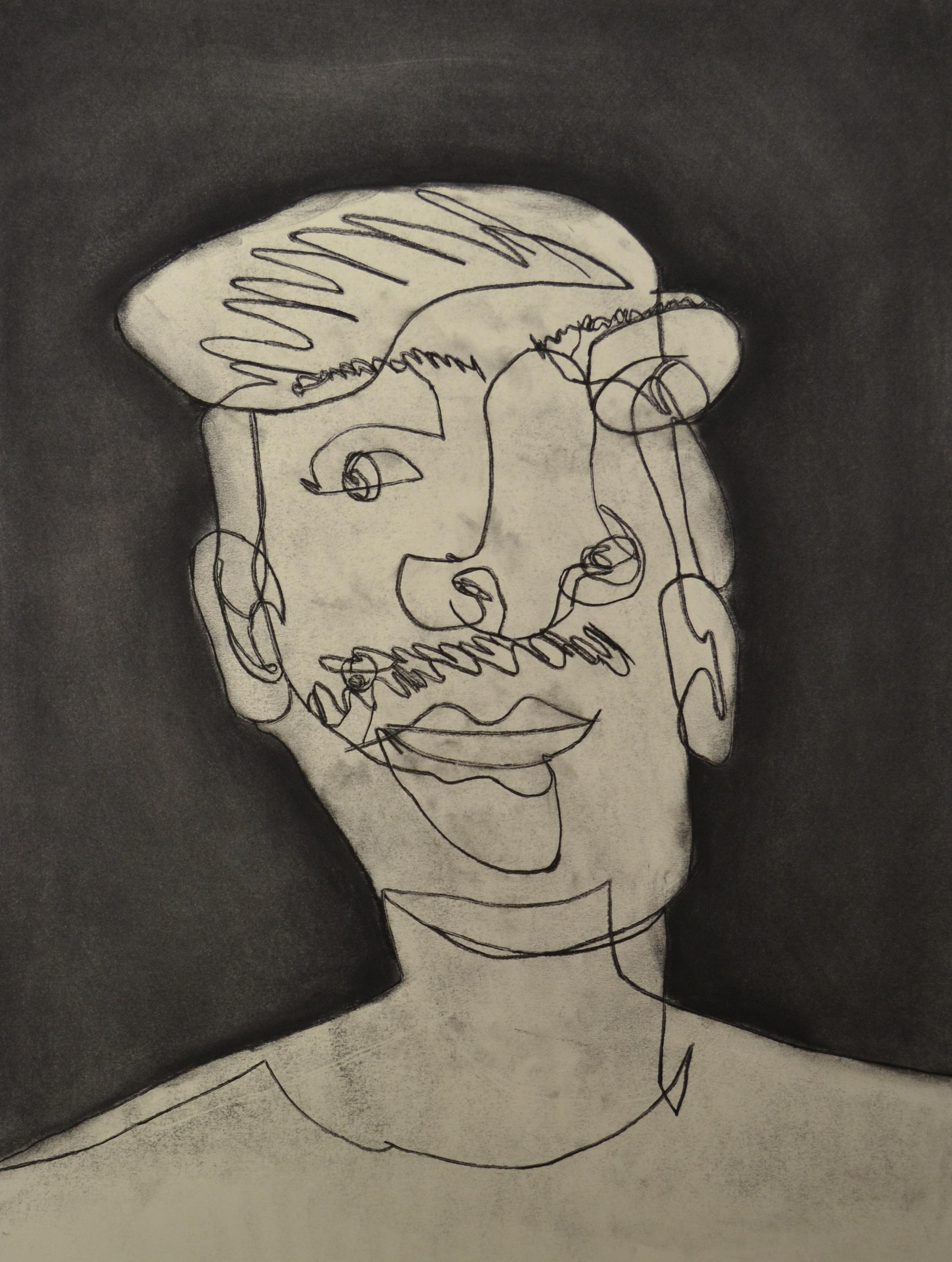 Blind Contour Self Portrait