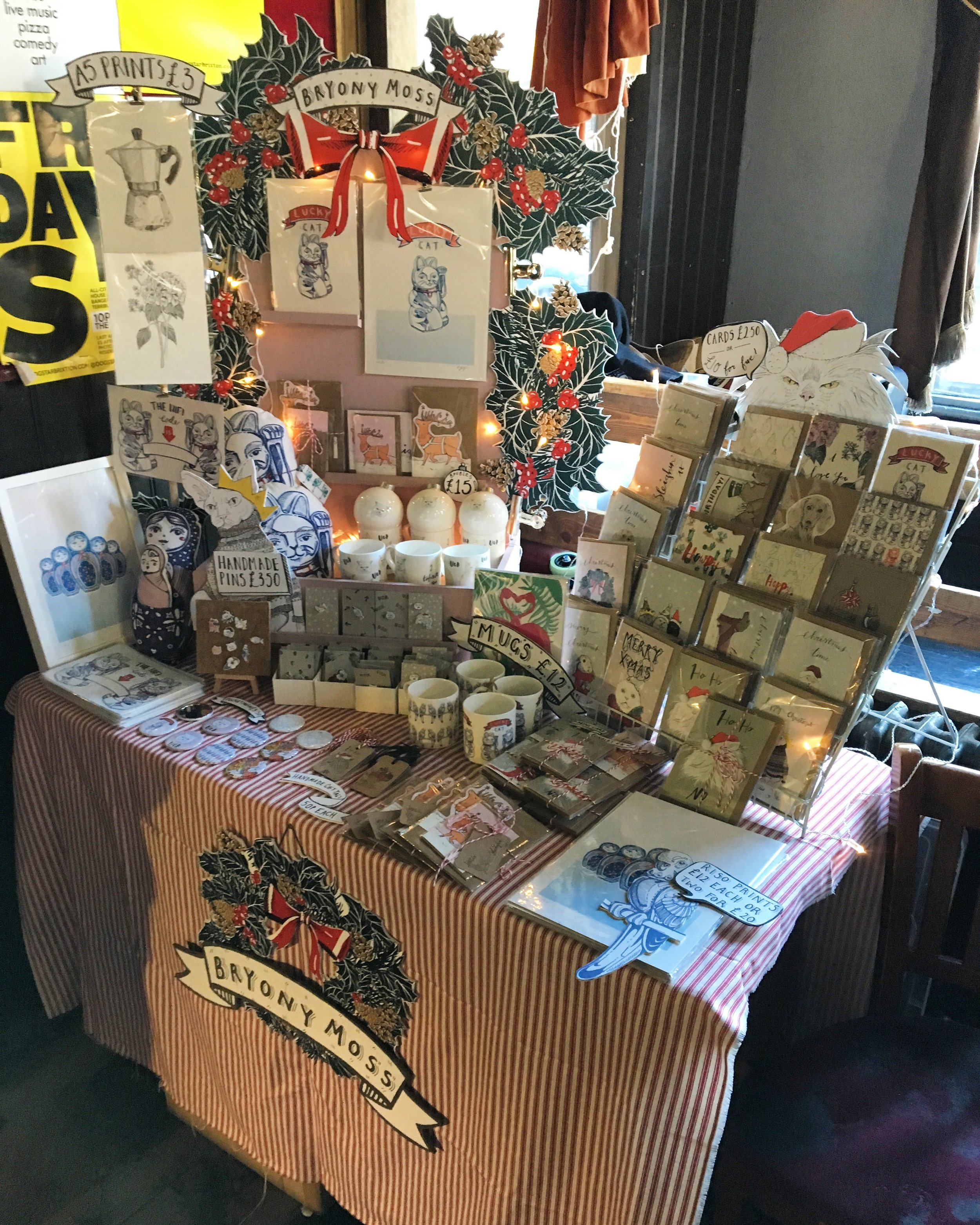 Christmas 2016- Crafty Fox Market, The Dogstar Brixton
