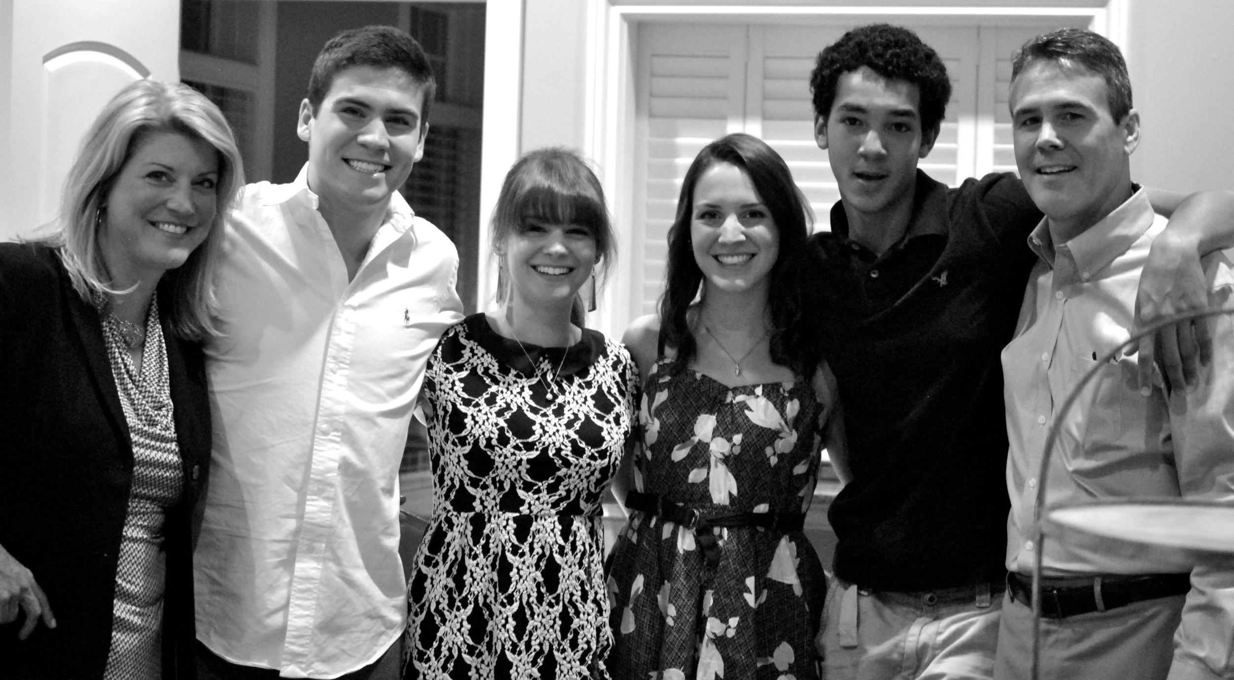 My family: wife, Barbara; son, Tim; daughter, Kathryn; daughter, Hannah; son, Ben; me.