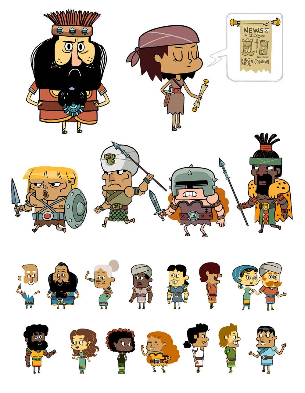 Various characters by Rafa Gallardo