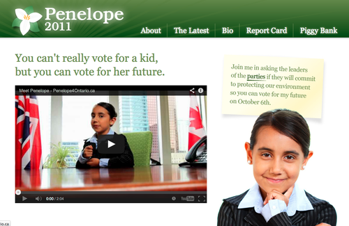Penelope 4 Ontario campaign website