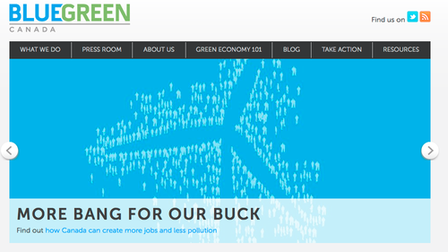 Blue Green Canada organization website