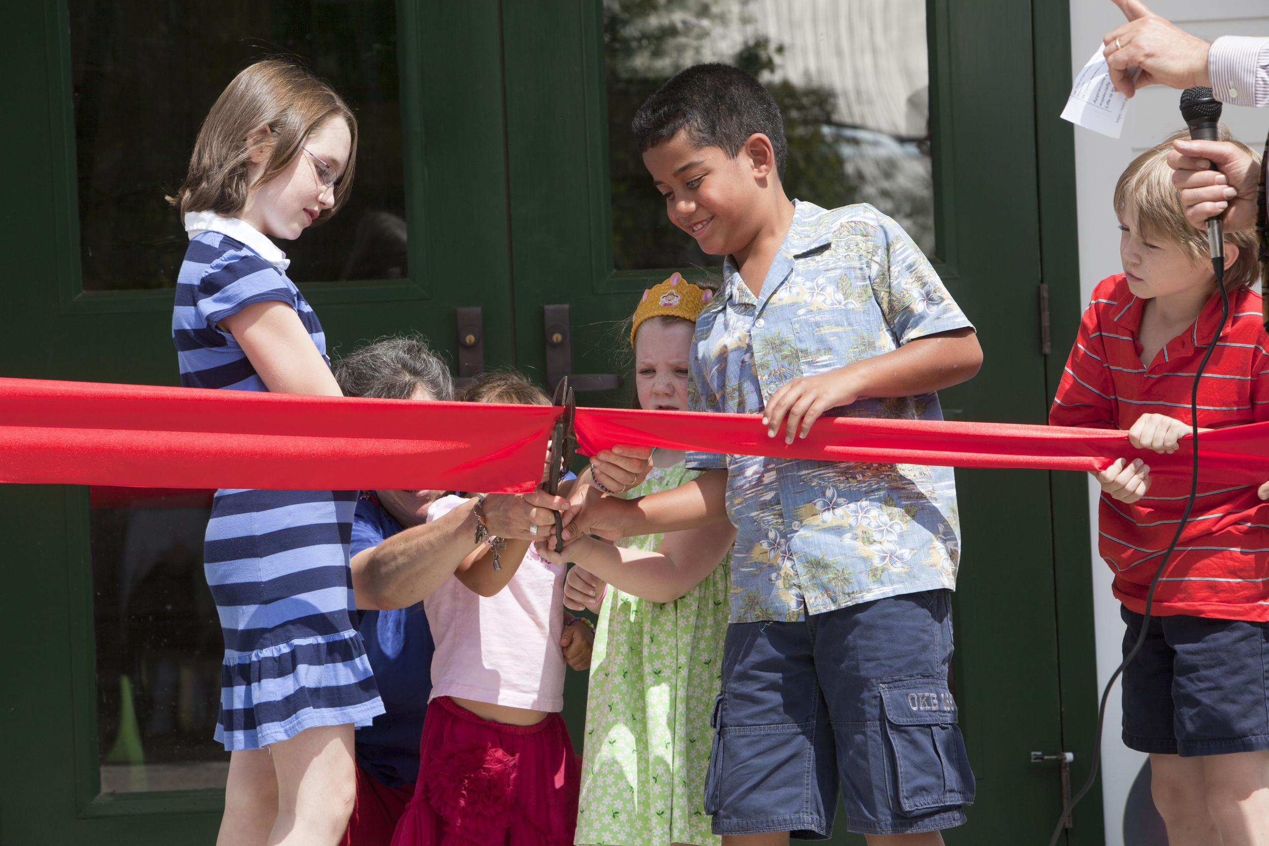 Local children cut the ribbon August 15, 2010