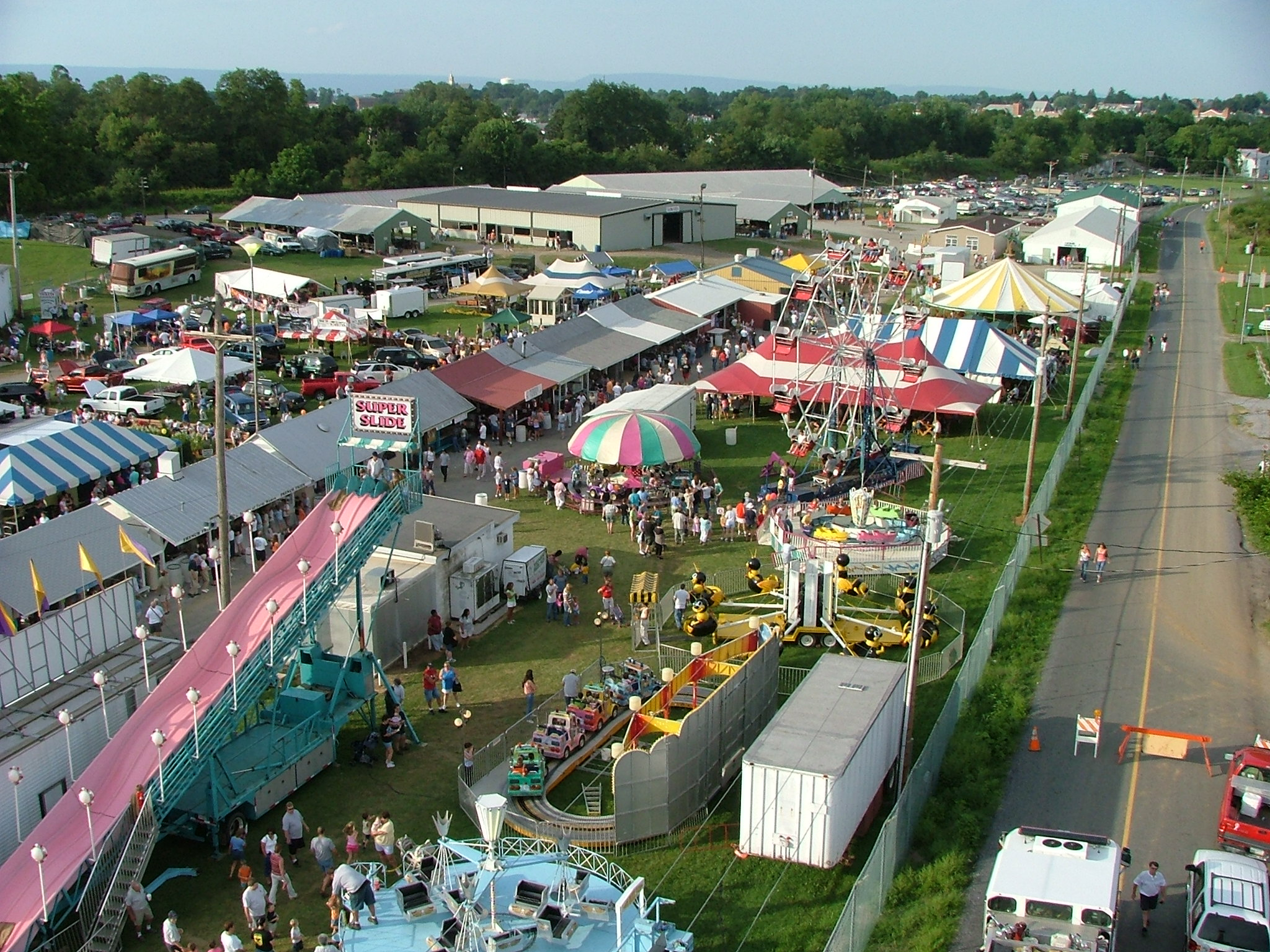 Today the Shippensburg Community Fair features permanent buildings, security fencing, and lots of rides, food stands and amenities for our guests!