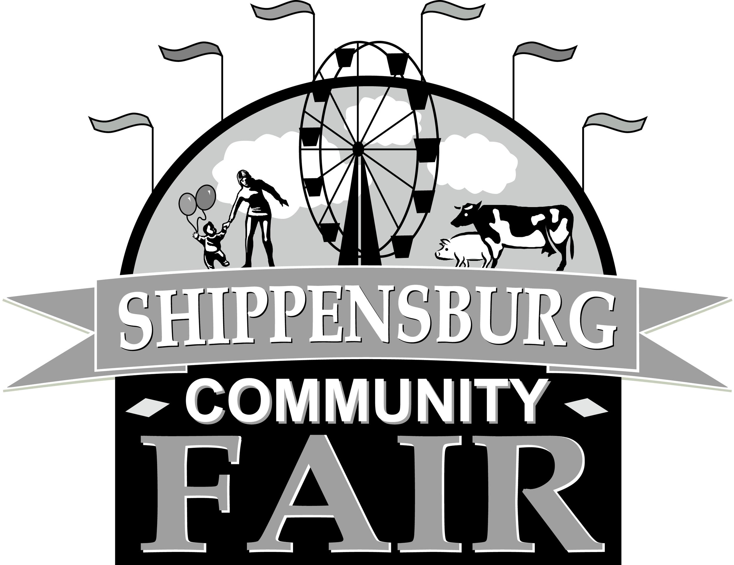 Shippensburg Community Fair Official Logo (B&W)   High Resolution (JPEG) - 1.13 MB