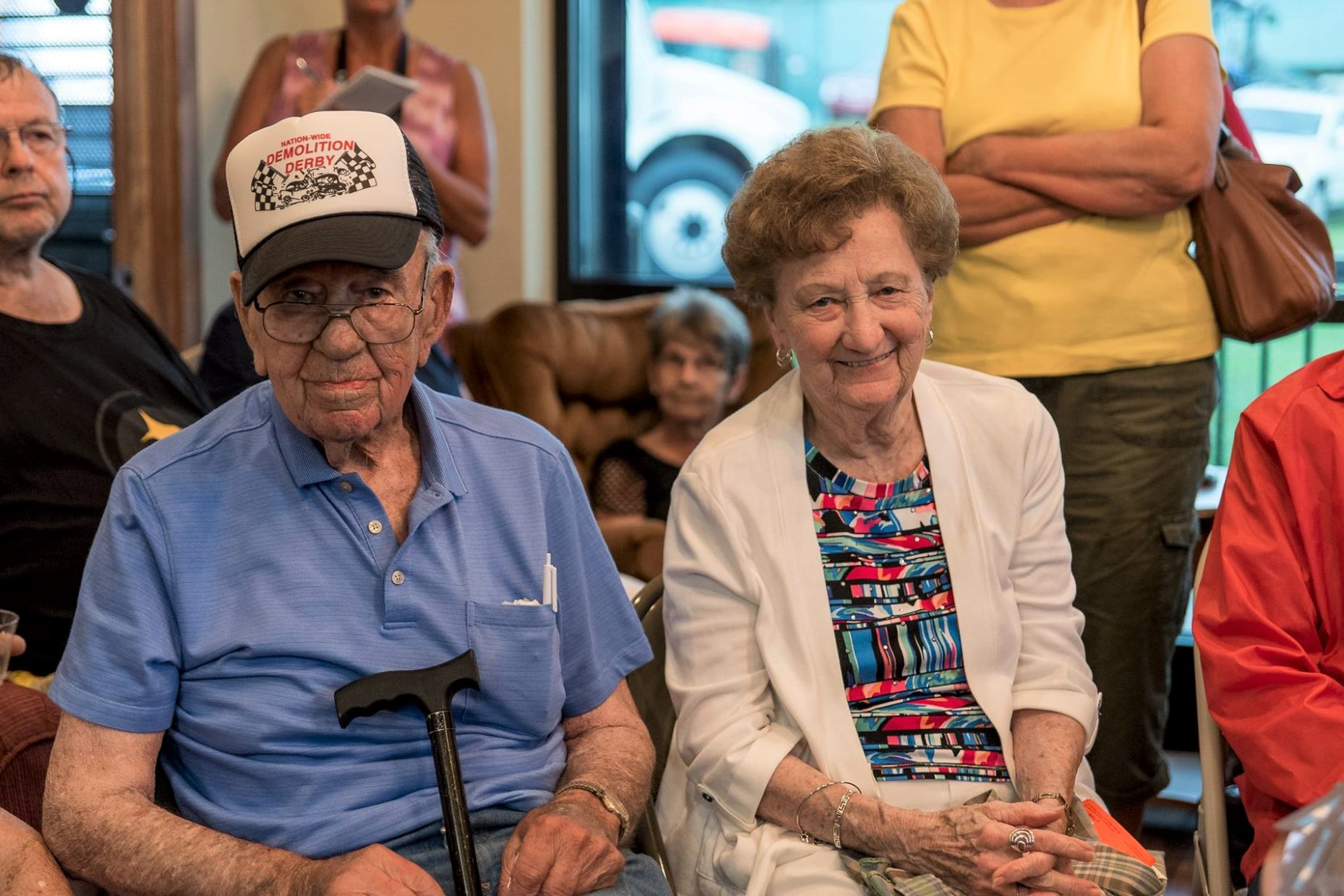 Fair President Richard Wyrick is pictured here with his wife Betty Jane at the Fair Office Open House & Dedication Ceremony during the 60th annual fair in July 2017.