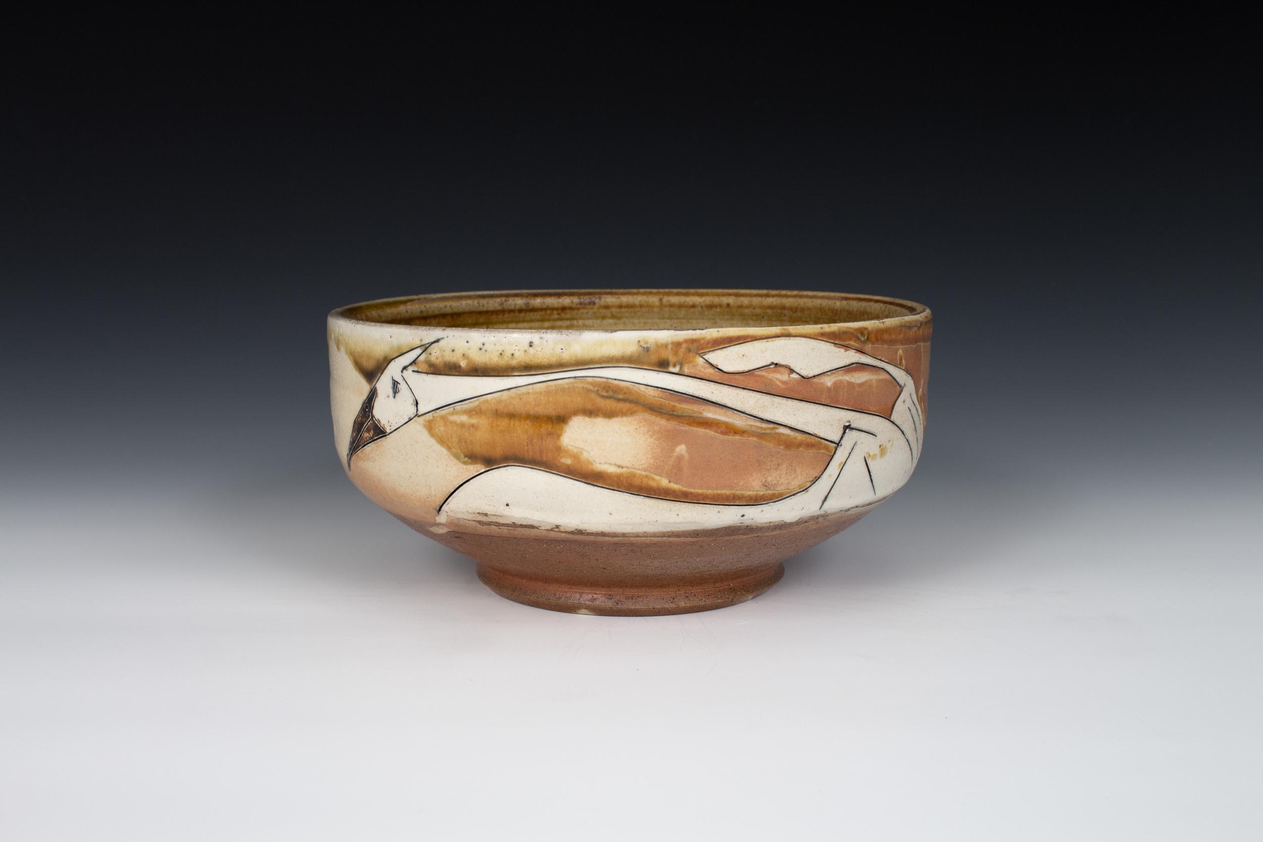 Sandhill Crane Serving Bowl
