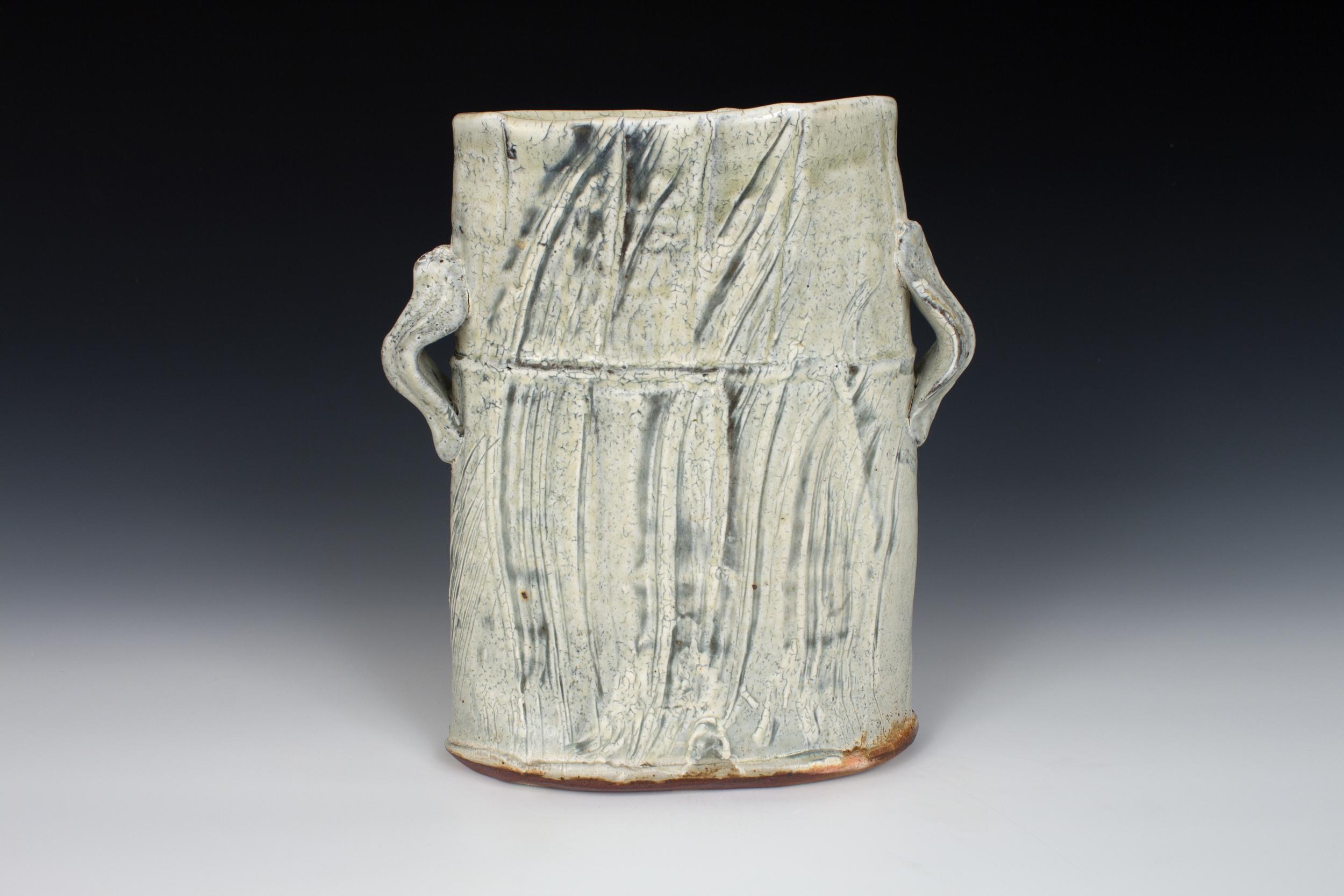Brushed Slip Oval Vase