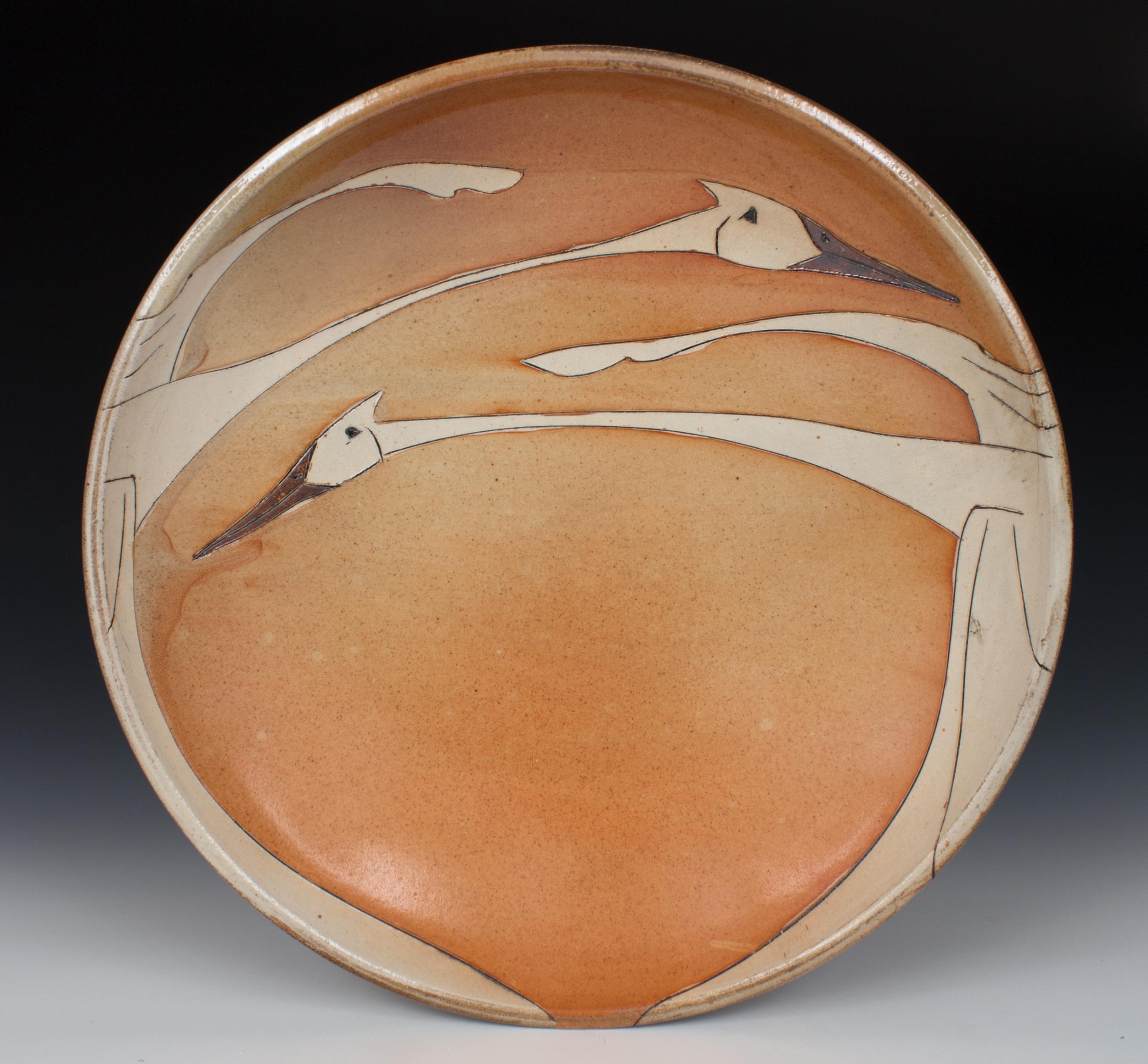 Sandhill Cranes Platter
