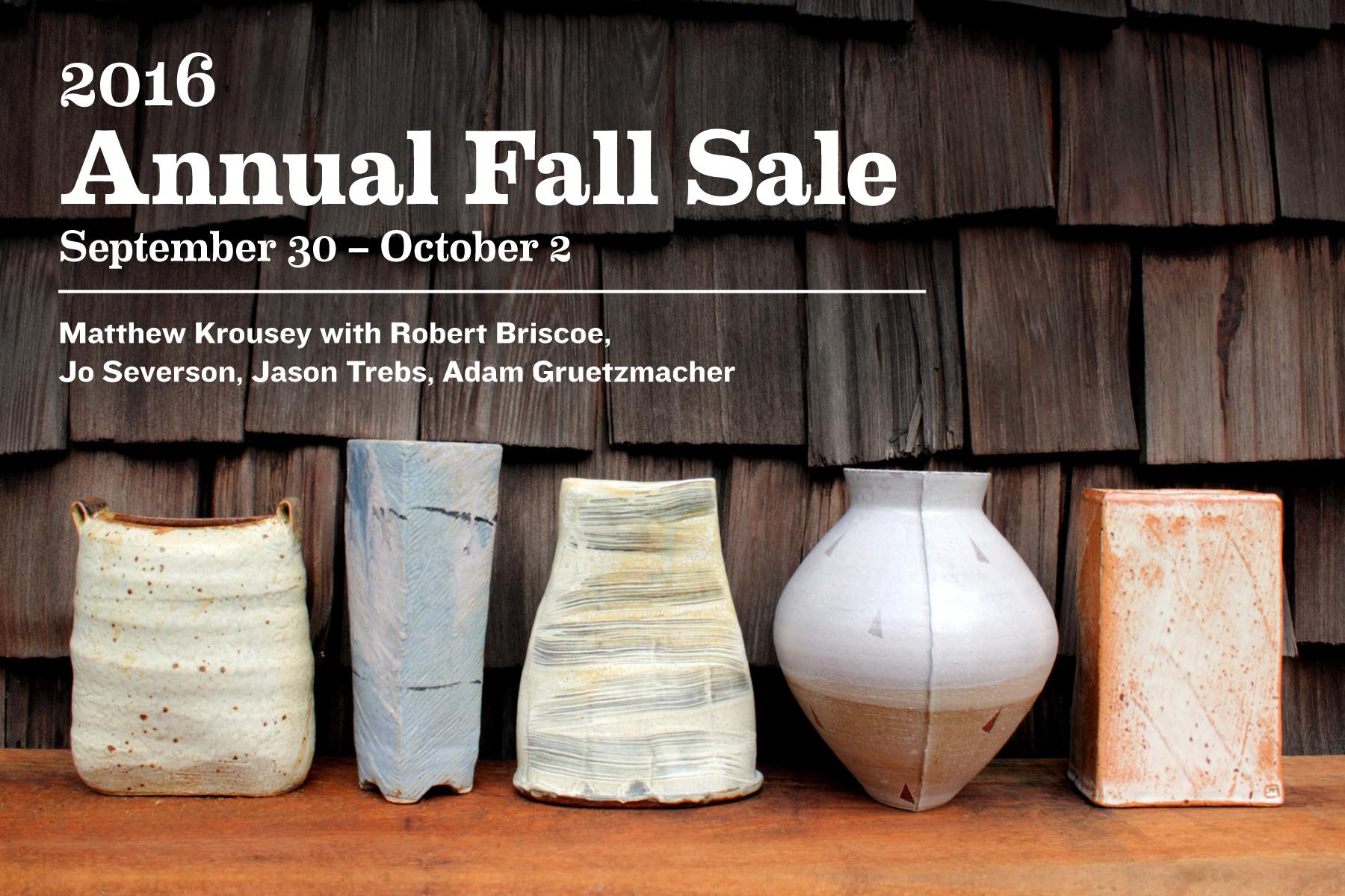 Annual Fall Sale Postcard 2016