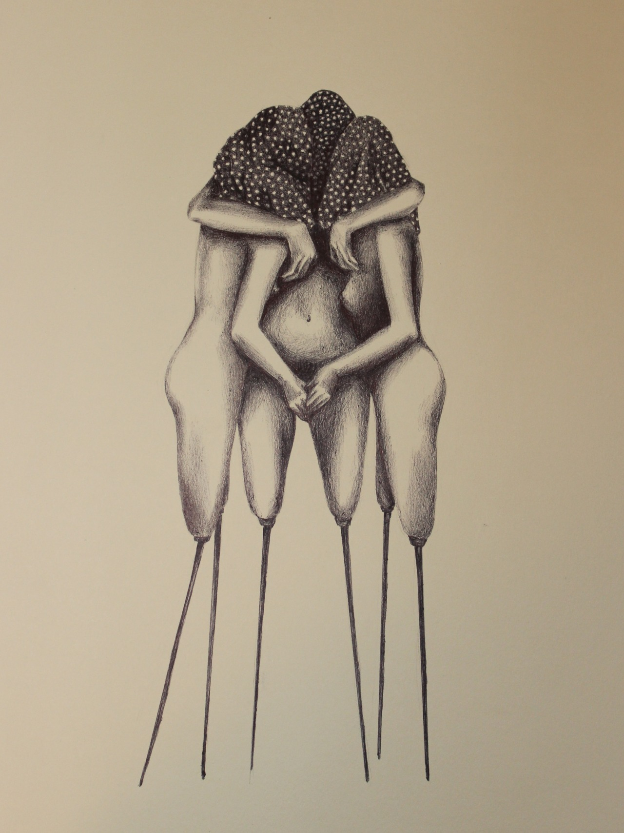 Divine Trinity , Ink on Paper by Nico Mazza