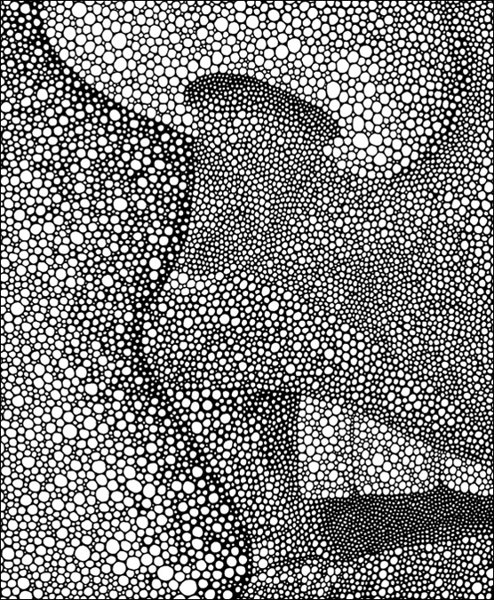 "Her (detail) / pen on paper / 14"" x 17"" / 2012"