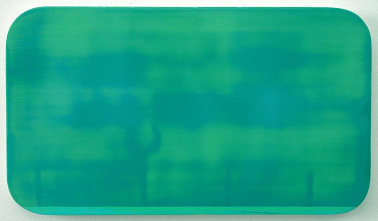 "Dania Jai-Alai 3 / acrylic on baltic birch / 8.5"" x 15.5"" / 2004"