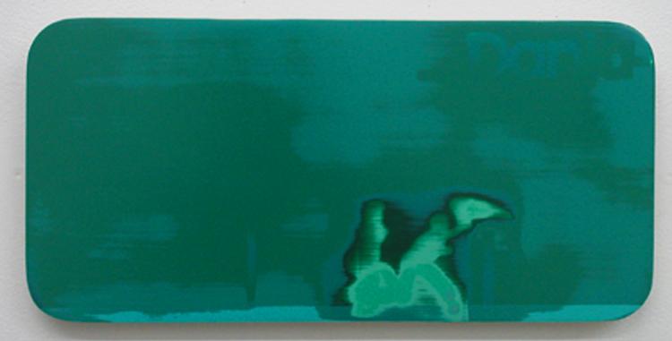 "Highlights from Dania 1 / acrylic on baltic birch / 7.5"" x 15"" / 2004"