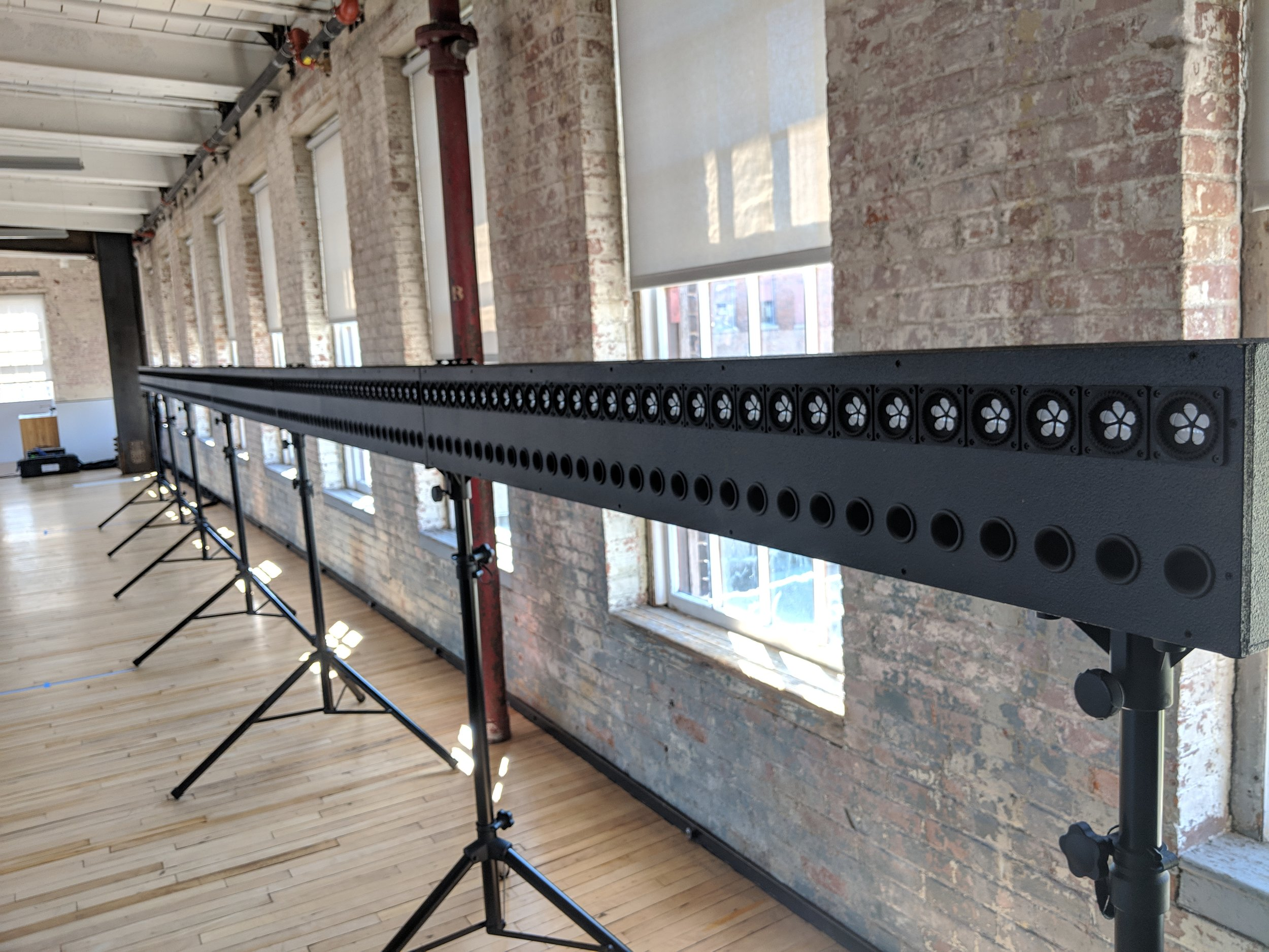 Horizontal WFS array at MASS MoCA