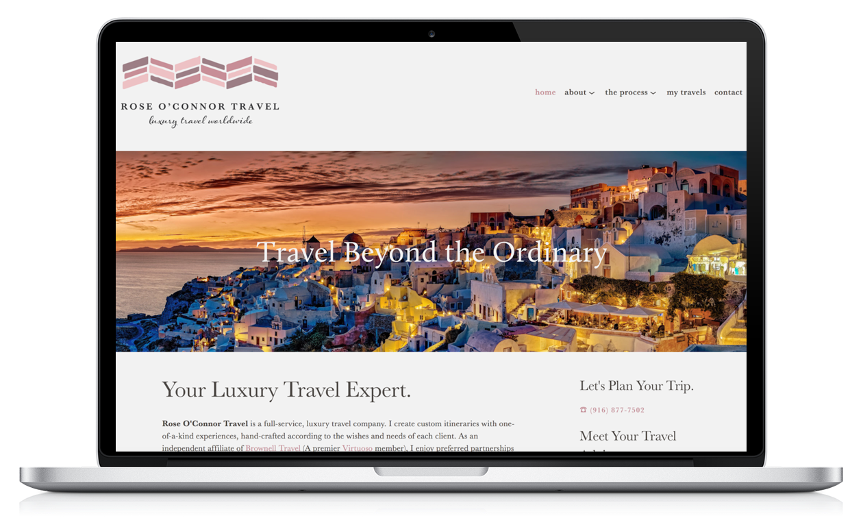 Squarespace for Brownell and Virtuoso Travel Agents