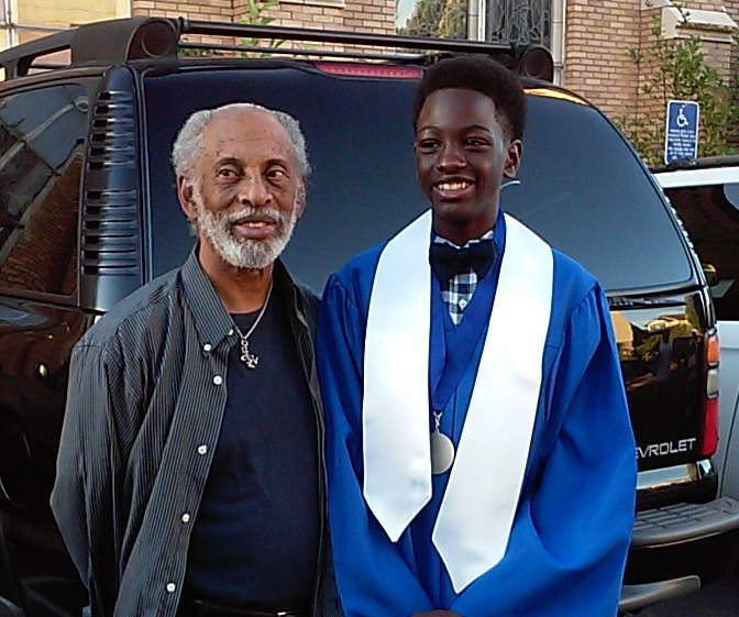Willie and Lehzan at Junior High graduation