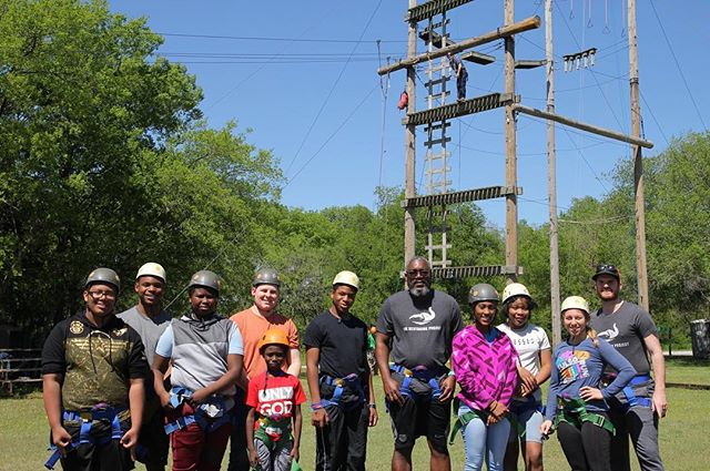 Special thanks to @shilohcamp for keeping us safe and leading us through the elements a couple weeks ago. It takes A LOT of trust to step off that Zipline platform! #TMProjectMentorMoment #MentorMoment #Mentor #TMP #TMPOKC #TMProject #EveryChildDeservesAMentor