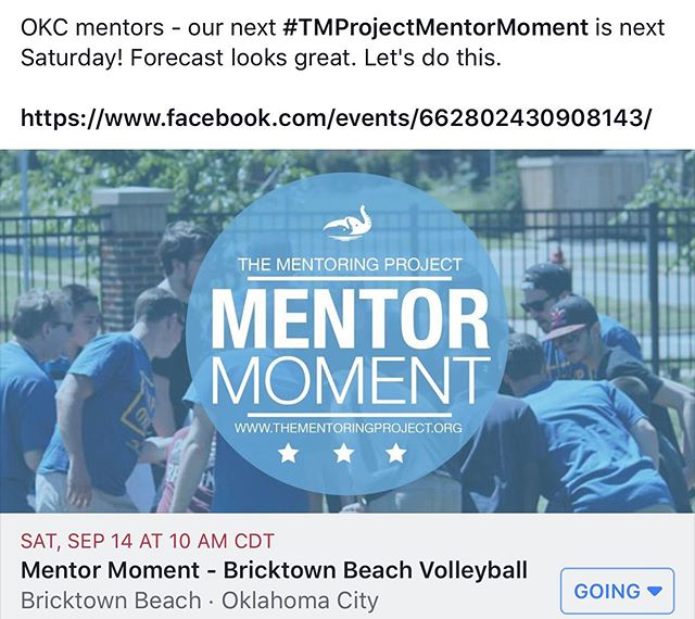 Fun, sun, and volleyball. Maybe we'll even build a sand castle. Let's do this! #TMProjectMentorMoment #MentorMoment #Mentor #TMProject #TMP #TMPOKC #EveryChildDeservesAMentor #TheMentoringProject #Mentorship #Mentoring #BeachVolleyball