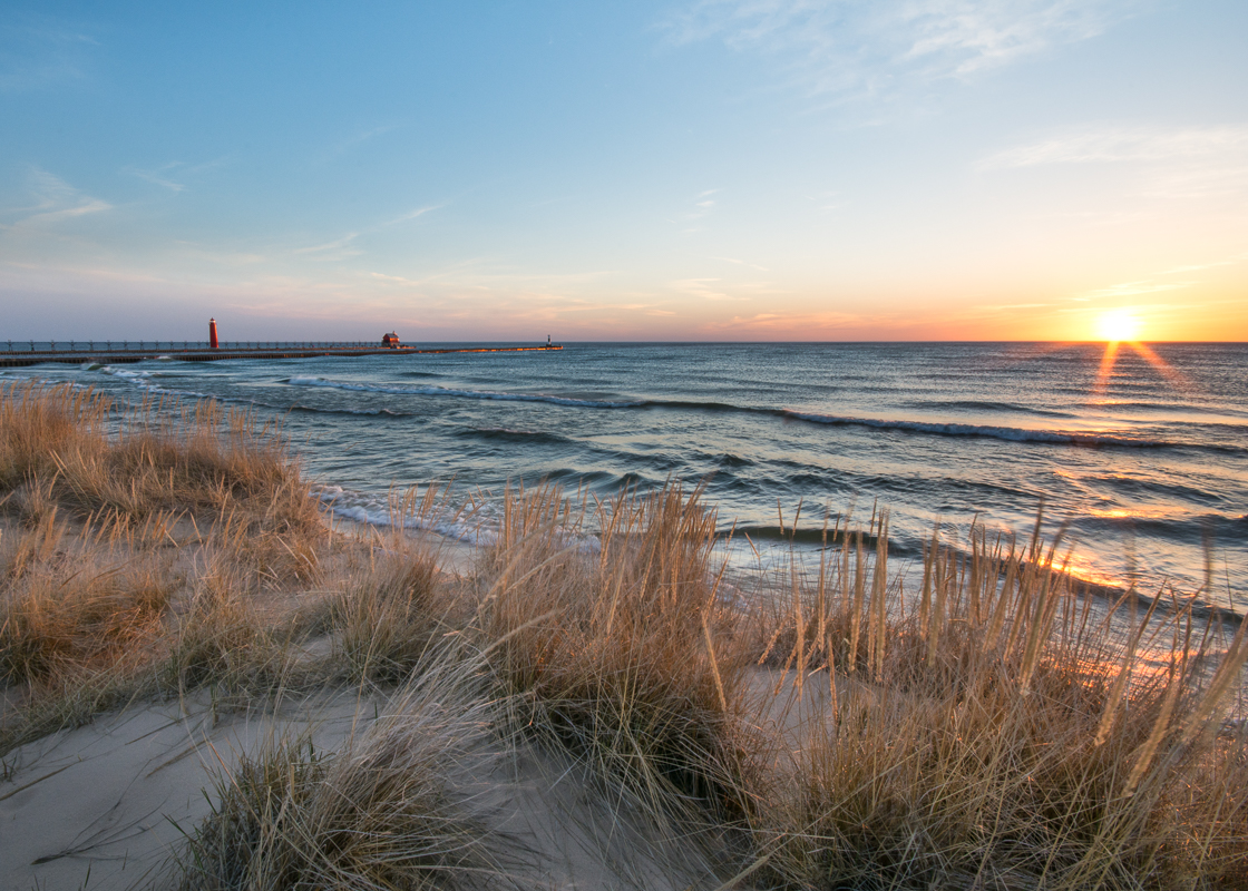 """""""Grand Haven Pier and Sunset"""""""