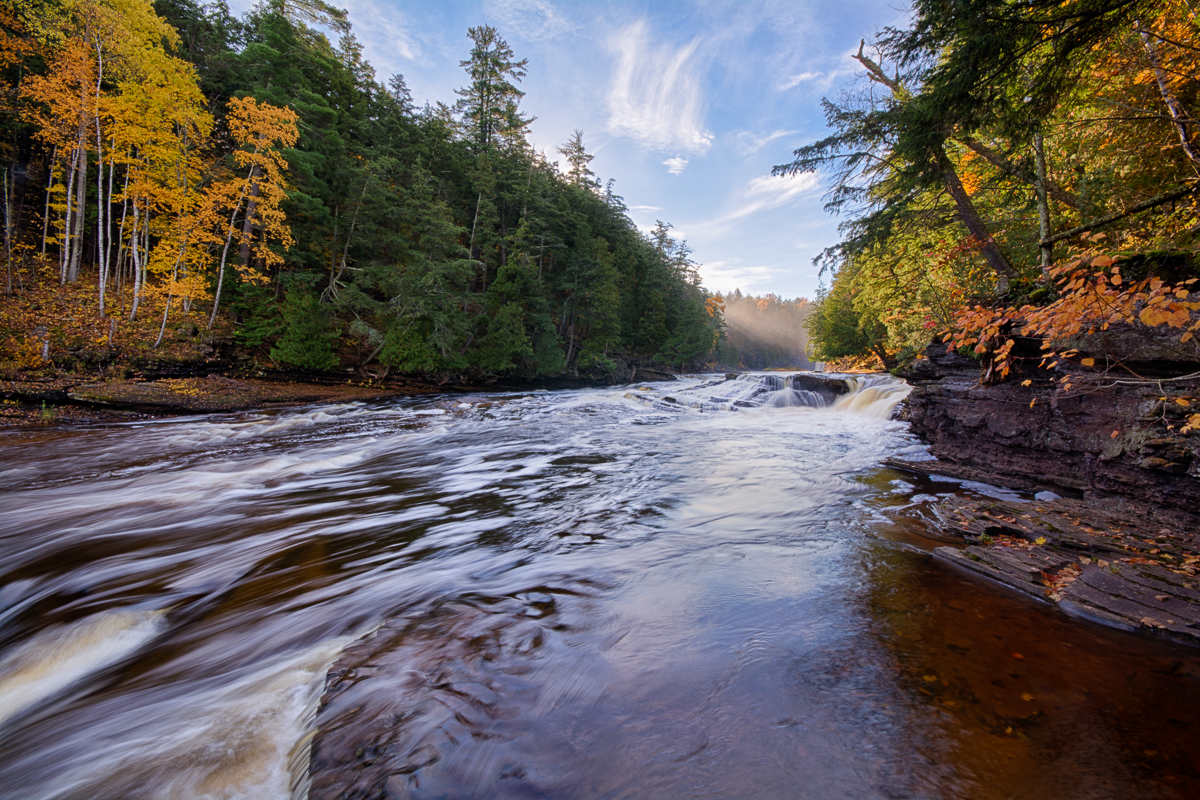 Fall at Presque Isle River