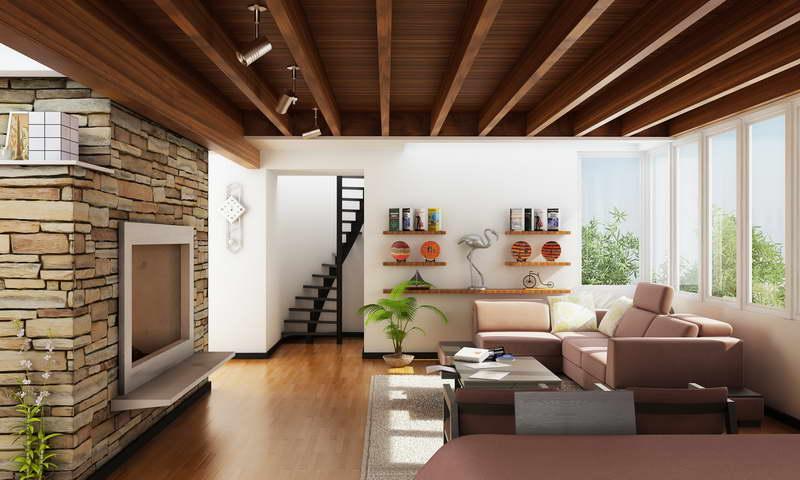 Contemporary Kerala House Living Room Interior Designs