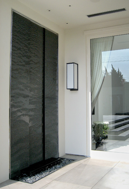 Any portion of a wall can be transformed into a water wall.