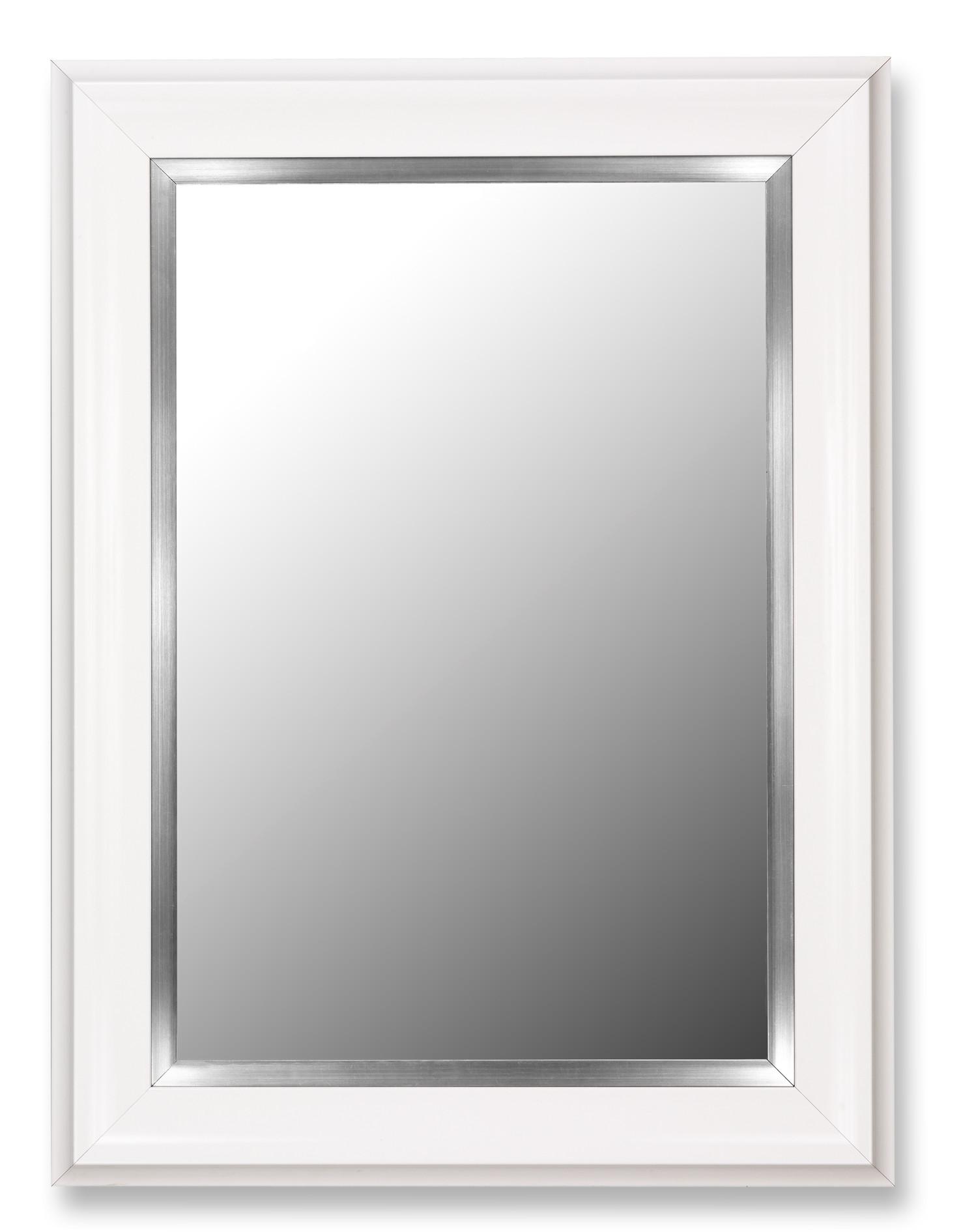 White Framed Mirror  39 H x 78 W - $730  Need 1