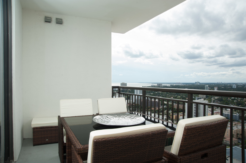 Brickell Penthouse Patio designed by Affordable Interior Design Miami - December 2015