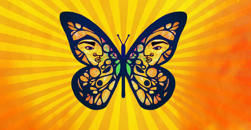 The Dreamers butterfly logo symbolizes the fight for DACA.