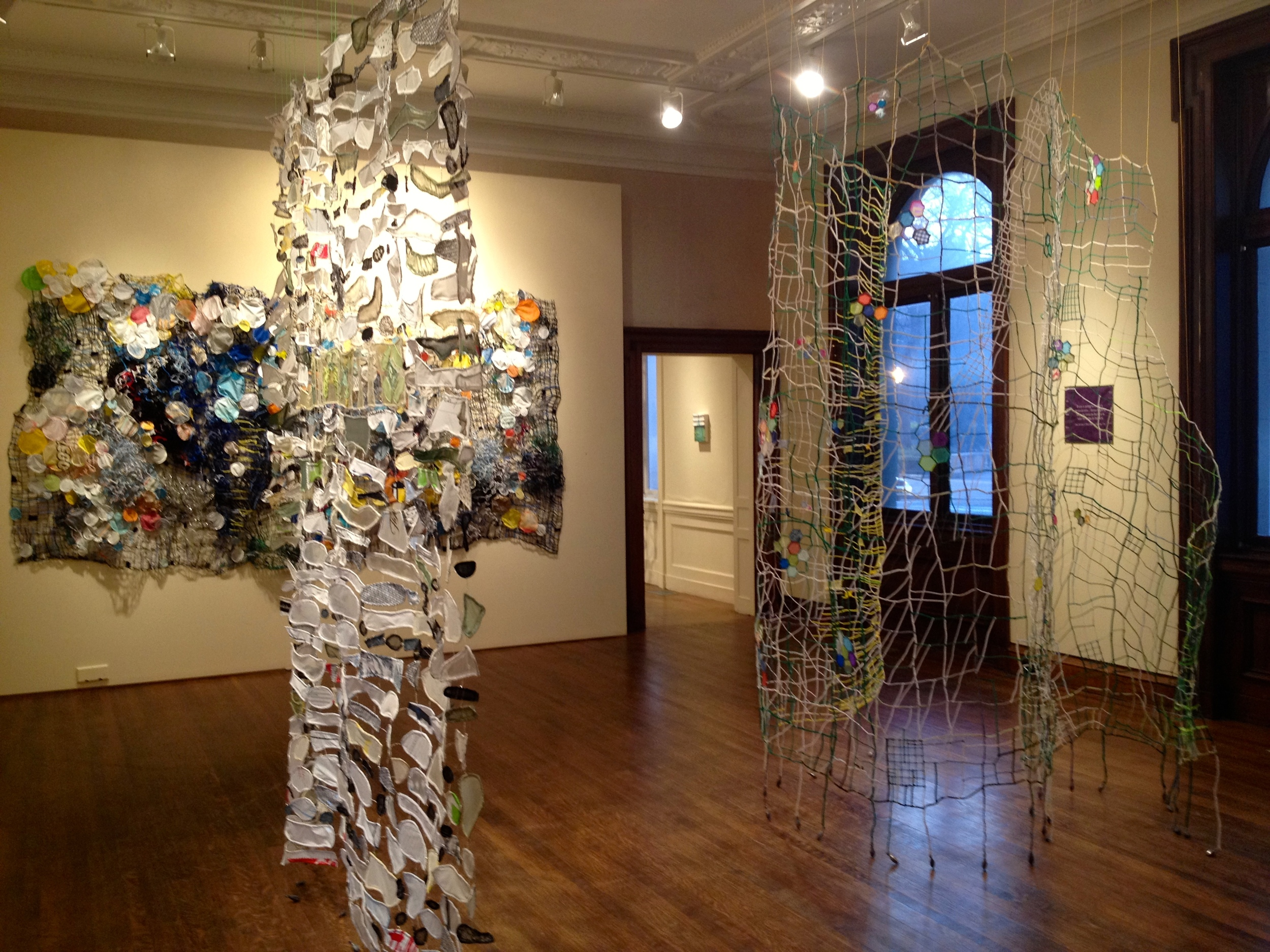 "caroline lathan-stiefel's ""greenhouse mix"" installation at the Philadelphia Art Alliance"
