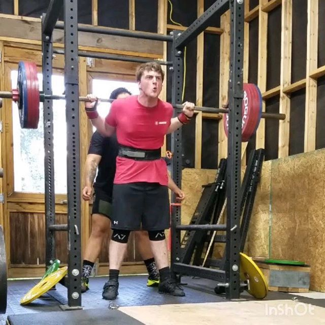 Setting PRs even before the meet? 😏 @mw.stinson ・・・ Today was a monster of a squat session. The goal was two top singles @ 8 and 9. I thought 485 was going to be a good choice for the 9.  Well I was wrong in the best way possible.  Shown is 485 @ 7.5, 496 @ 8, and then 501 @ 9. All of these were PRs.  I realized today that I can be cautious to a fault, but thanks to the boys @thehalf_whiteislander , @harrisonriggs , @claj_1991 , @bean.93kg , @dr_codyhaun, and especially my coach @hani_tsa , we pushed it and finally, actually squatted at a 9 RPE 😂  I'm 2 weeks out and am pumped for this meet.  @thestrengthathlete @aupowerlifting #thestrengthathlete