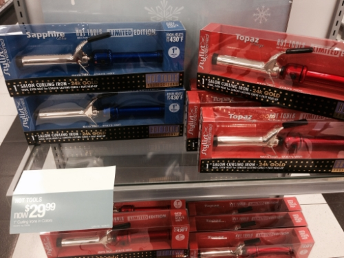 Cute festive color curling irons in the same brand