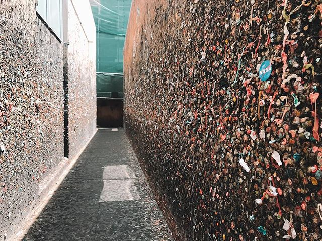 Still slightly unsure of how to react to Bubble Gum Alley. No need for an explanation, I'm sure you can guess for how this alley got it's name!