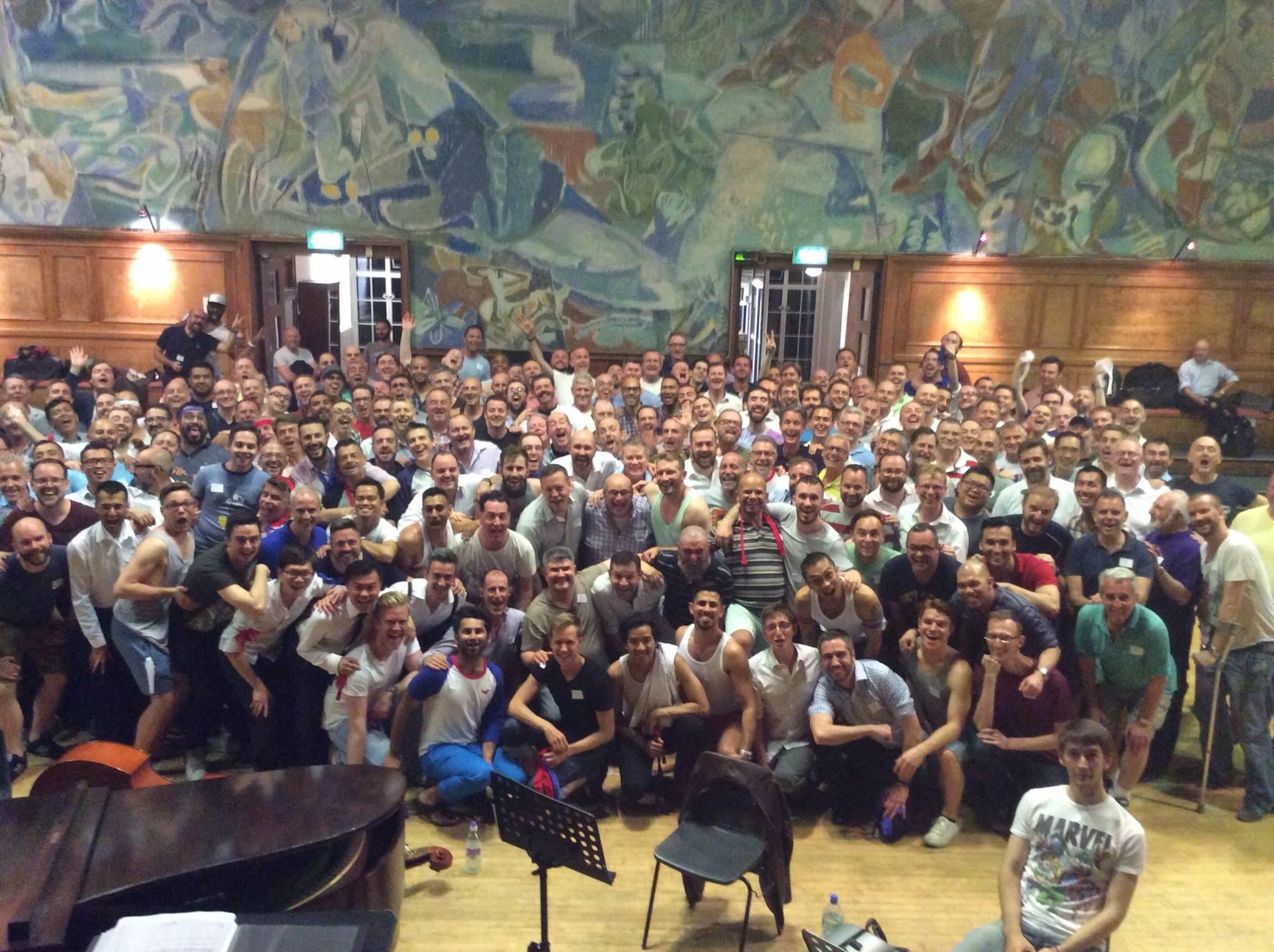 NYCGMC and LGMC in rehearsal at Cecil Sharp House Monday June 9th 2014