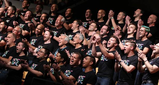 New York CIty Gay Men's Chorus, GALA Festival Opening Ceremony, July 2016 - we always sing with energy!